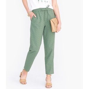 J Crew Factory Eyelet Drawstring Cotton Pants